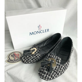 モンクレール(MONCLER)の美品 モンクレール タッセルフラットシューズ 35 パンプス(スリッポン/モカシン)