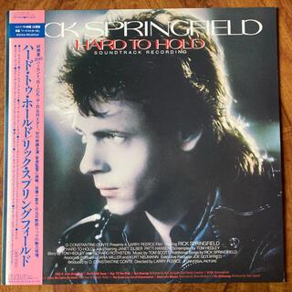【国内盤 帯付き!】リック・スプリングフィールド「 ハード・トゥ・ホールド  」(映画音楽)