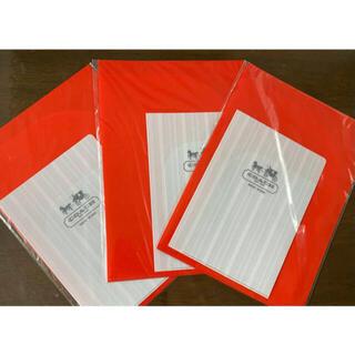 コーチ(COACH)の新品 COACH コーチ クリアファイル 大(赤) 小(白) 2枚入り×3個(ファイル/バインダー)