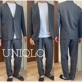 ユニクロ(UNIQLO)のUNIQLO U テーラードジャケット ワイドフィットパンツ セット(セットアップ)