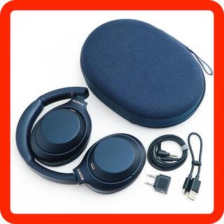 ソニー(SONY)のレア!SONY WH-1000XM4 ブルーブラック限定色ワイヤレスヘッドホン(ヘッドフォン/イヤフォン)