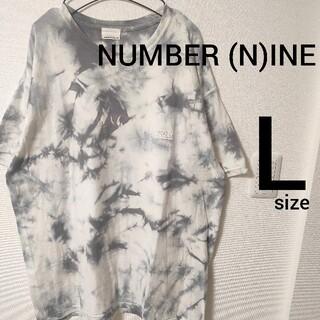 ナンバーナイン(NUMBER (N)INE)のナンバーナイン アッシュグレー タイダイ柄 半袖Tシャツ カットソー size3(Tシャツ/カットソー(半袖/袖なし))