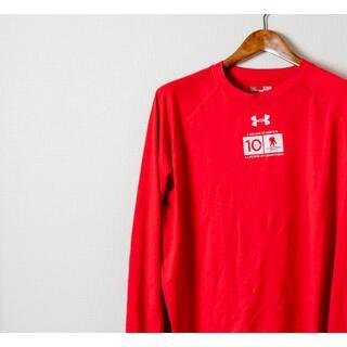 アンダーアーマー(UNDER ARMOUR)のUNDER ARMOUR アンダーアーマー ロングTシャツ 赤(Tシャツ/カットソー(七分/長袖))