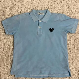 コムデギャルソン(COMME des GARCONS)のPLAY COMME des GARÇONS 水色ポロシャツ(ポロシャツ)