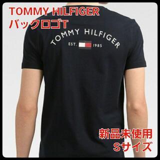 TOMMY HILFIGER バックロゴTシャツ ネイビー Sサイズ(Tシャツ/カットソー(半袖/袖なし))