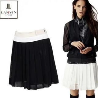 新品 ランバン36,000円 ゴルフ プリーツスカート   黒38 Mサイズ