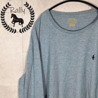 ポロラルフローレン(POLO RALPH LAUREN)のB84 ポロラルフローレン/ロンT/ロゴ刺繍/シンプル/ホース/長袖/90s(Tシャツ/カットソー(七分/長袖))