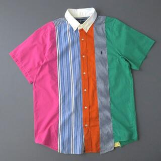 ラルフローレン(Ralph Lauren)のラルフローレン 一点物リメイク◎パッチワークシャツ/マルチパターンチェック(シャツ)