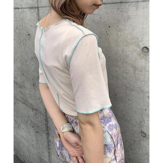 カスタネ(Kastane)のKastane(カスタネ)  カラーステッチストレッチ半袖Tee セール(Tシャツ(半袖/袖なし))