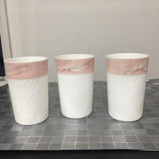 ニッコー(NIKKO)のニッコー FINE BONE CHINA ピンクタンブラー グラス(グラス/カップ)