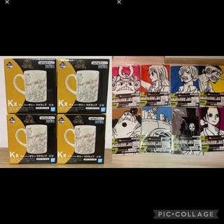 BANDAI - 一番くじ ワンピース  K賞 アニバーサリーマグカップ4個セット