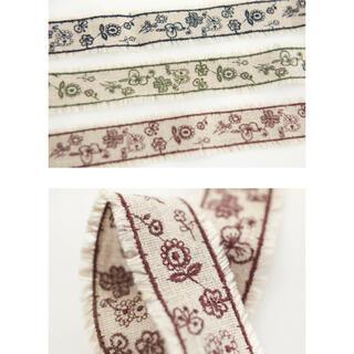 ミナペルホネン(mina perhonen)のミナペルホネン 刺繍のりぼん(生地/糸)