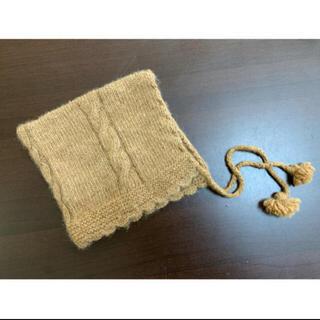 ミナペルホネン(mina perhonen)のPUENTE  プエンテ 手紡ぎ赤ちゃん帽 アルパカ ベビー 帽子 ボンネット(帽子)