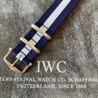 インターナショナルウォッチカンパニー(IWC)の【美品】IWC純正尾錠18mm (ラグ幅18mm 新品NATOストラップ付)(その他)