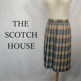 ザスコッチハウス(THE SCOTCH HOUSE)のザ スコッチハウス プリーツ スカート チェック ウール(ひざ丈スカート)