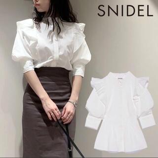 スナイデル(snidel)のSNIDEL Sustainaフリルスタンドカラーブラウス(シャツ/ブラウス(長袖/七分))