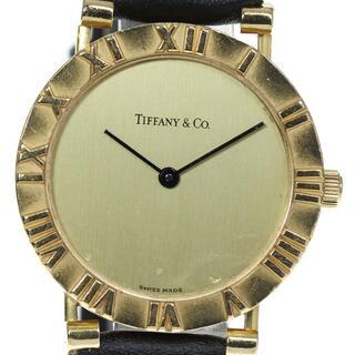 ティファニー(Tiffany & Co.)のティファニー アトラス K18YG M0630 クォーツ メンズ 【中古】(腕時計(アナログ))
