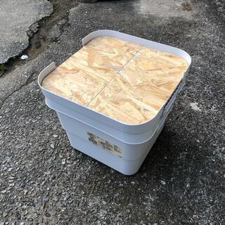 ムジルシリョウヒン(MUJI (無印良品))のアクリル塗装済み 無印良品 頑丈収納ボックス 天板(小サイズ用)(テーブル/チェア)