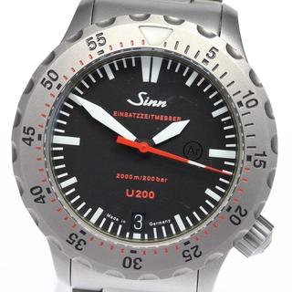 シン(SINN)のジン U200 EZM8 ダイバーズウォッチ   1012 メンズ 【中古】(腕時計(アナログ))