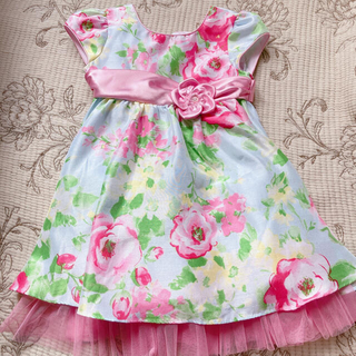 コストコ(コストコ)のコストコ 花柄ドレス 3T 結婚式 誕生日 記念写真(ドレス/フォーマル)