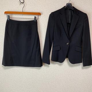 アオキ(AOKI)のレミュー 上3S下SS スカートスーツ W62 黒 就活 未使用に近い DMW(スーツ)