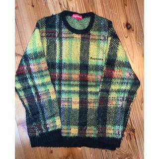 Supreme - supreme brushed plaid sweater mサイズ