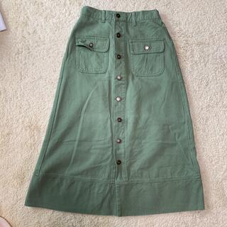 エムズエキサイト(EMSEXCITE)のロングスカート カーキ ボタン(ロングスカート)