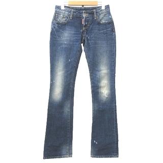 ディースクエアード(DSQUARED2)のディースクエアード ダメージ加工 デニム パンツ ブーツカット 38 ブルー(デニム/ジーンズ)