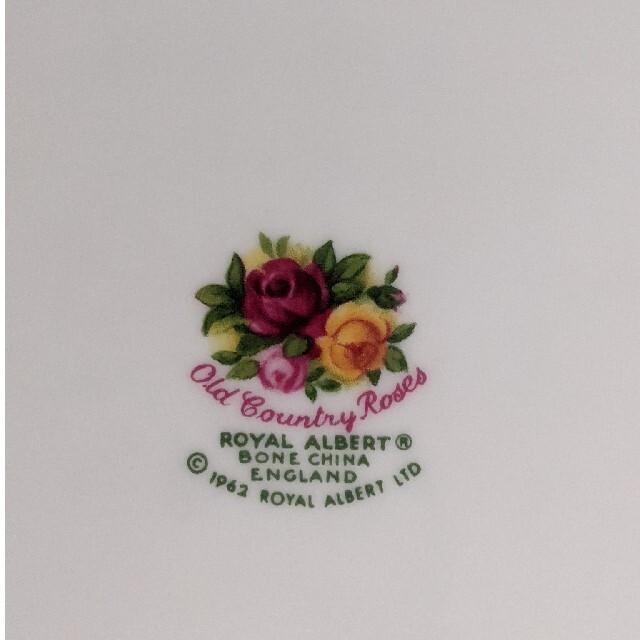ROYAL ALBERT(ロイヤルアルバート)の未使用 ロイヤルアルバートオールドカントリーローズB&Bプレート インテリア/住まい/日用品のキッチン/食器(食器)の商品写真
