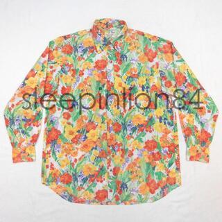 ★エミスフェール デラックス★ 総柄 花柄 長袖シャツ ボタンダウンシャツ(シャツ)