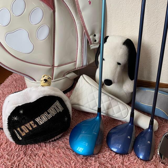 wilson(ウィルソン)の初心者レディースゴルフセット💕Wilsonほか おまけ山盛り スポーツ/アウトドアのゴルフ(クラブ)の商品写真