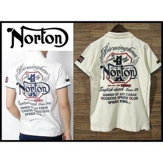 Norton - G② Norton ノートン ウイング ポロシャツ 刺繍 半袖ポロ バイカー L