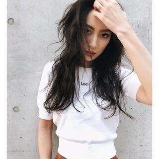 スナイデル(snidel)のlee snidelコラボ ニットトップス(Tシャツ(半袖/袖なし))