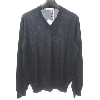 クルチアーニ(Cruciani)のクルチアーニ カシミヤ シルク混 ニット プルオーバー Vネック 長袖 44(ニット/セーター)
