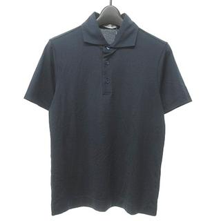 クルチアーニ(Cruciani)のクルチアーニ ポロシャツ カットソー 半袖 コットン ネイビー 紺 44(ポロシャツ)