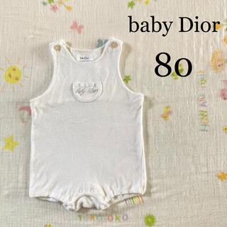 ベビーディオール(baby Dior)のロンパース ベビーディオール 綿100% かわいい レトロ レア(ロンパース)