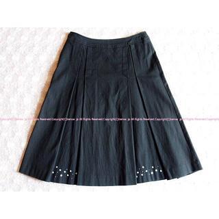 エフデ(ef-de)のef-de エフデ かわいい!プレーンなボックスプリーツスカート/9(ひざ丈スカート)