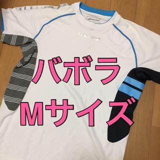 バボラ(Babolat)のバボラ BabolaT ゲームシャツ テニス バドミントン Mサイズ(バドミントン)