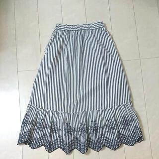 エニィファム(anyFAM)のエニィファム  素敵な刺繍のロングスカート   可愛い お上品 オンワード樫山(ロングスカート)