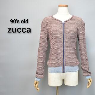 ズッカ(ZUCCa)の90s old zucca ズッカ zip ニット カーディガン(カーディガン)