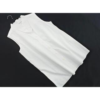 コス(COS)の美品♥︎ COS コス ノースリーブ ブラウス シャツ size38/白 (シャツ/ブラウス(半袖/袖なし))