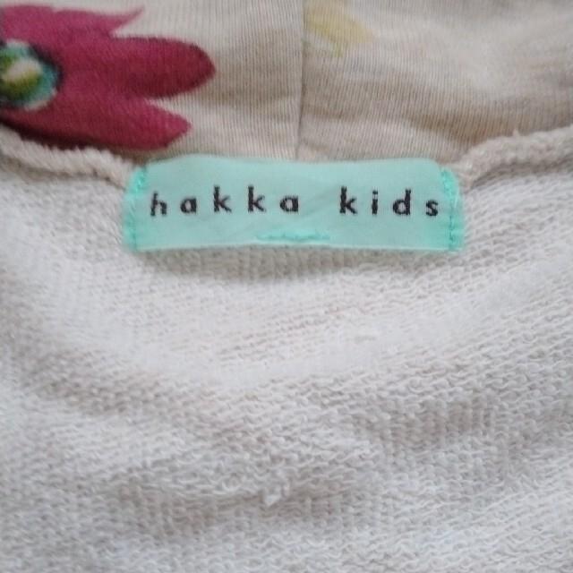 hakka kids(ハッカキッズ)の値下げ hakka kids 花柄パーカー キッズ/ベビー/マタニティのキッズ服女の子用(90cm~)(ジャケット/上着)の商品写真
