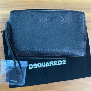 ディースクエアード(DSQUARED2)のディースクエアード  新品未使用品 本革 クラッチ バッグ ポーチ(セカンドバッグ/クラッチバッグ)