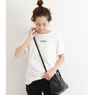 フレームワーク(FRAMeWORK)のフレームワーク テンジクチビロゴT tシャツ 半袖 ホワイト FRAMeWORK(Tシャツ(半袖/袖なし))
