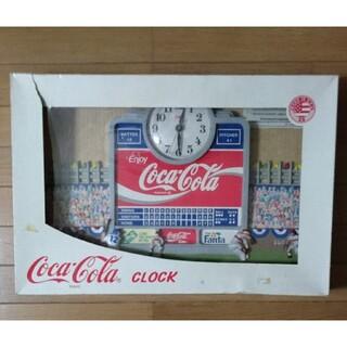 コカコーラ(コカ・コーラ)のコカコーラ 壁掛け時計 ビンテージ レトロコカ・コーラのクロック(その他)