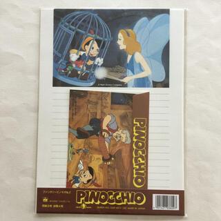 ディズニー(Disney)の⑨ 昭和 レトロ レターセット 便せん 封筒 手紙 ディズニー ピノキオ (その他)