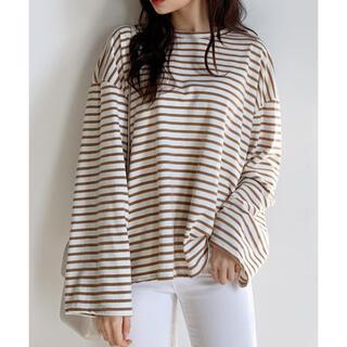 ディーホリック(dholic)のdholic ボーダーボクシーフィットTシャツ(Tシャツ(長袖/七分))