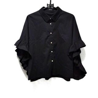 ルネ(René)のルネ 半袖シャツブラウス サイズ32 XS - 黒(シャツ/ブラウス(半袖/袖なし))