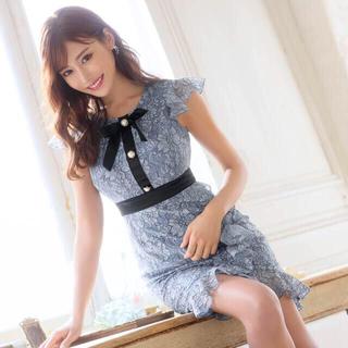 dazzy store - 【明日花キララ着用】dazzystore リボン付きレースタイトミニドレス