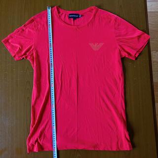 エンポリオアルマーニ(Emporio Armani)のエンポリオアルマーニ 胸イーグルロゴレッドカットソー サイズL(Tシャツ/カットソー(半袖/袖なし))